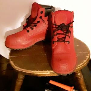 Timberland Shoes - Timberland ladies reflective red boot